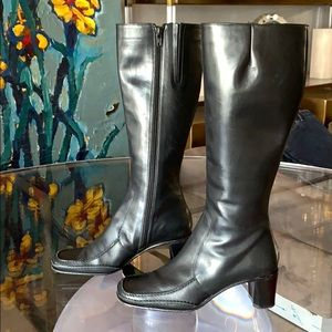 Knee High Leather Boots made in Italy by Via Spiga